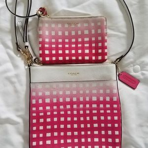 Coach Leather Crossbody and Wristlet